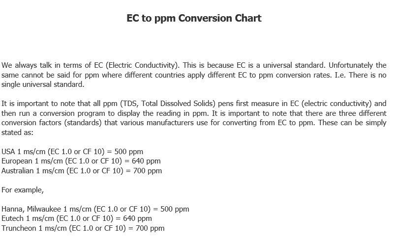 Electrical Conductivity Measurements